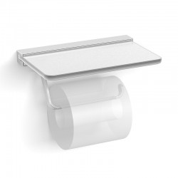 Paper Holder w/Frosted Glass Shelf